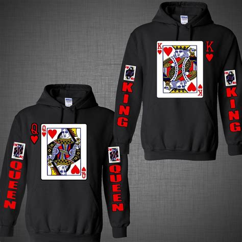 jacket design for couples couple matching hoodie king of hearts queen halloween