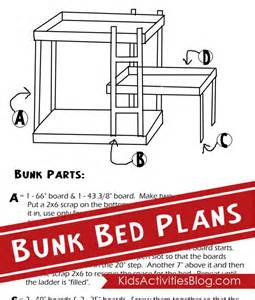 Blueprints For Triple Bunk Beds by Ingenious Plans To Build A Bed Are Published On Kids Activities Blog Together With A Clever