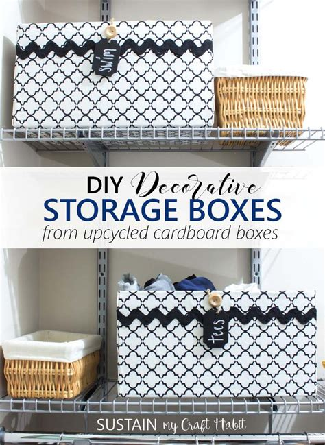 how to make decorative cardboard boxes best 25 cardboard box storage ideas on pinterest