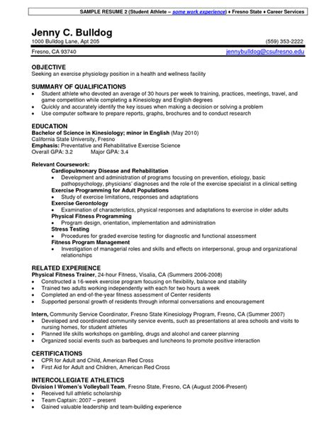 Sle Resume For College Student Athlete Resume Writing Career Services