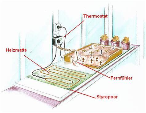 Heizmatte Mit Thermostat 200 by Bio Green Heizmatte 40 X 200 Cm Mit Thermostat Und 157