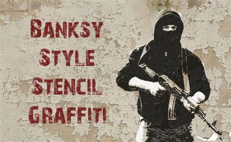 create  graffiti multi layer stencil style banksy