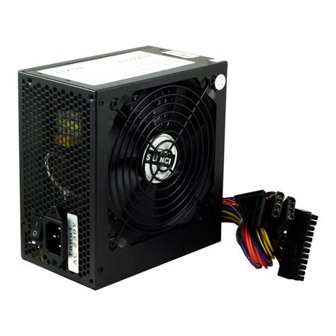 Power Lifier 500 Watt black 500w 12cm silent fan pc power supply atx computer