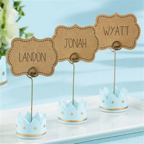 Baby Shower Place Card Holders by Prince Princess Place Card Holders Baby Shower Favors