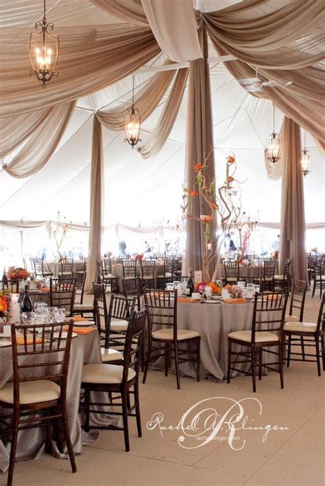 Love this ceiling treatment Tent Weddings Draping Toronto