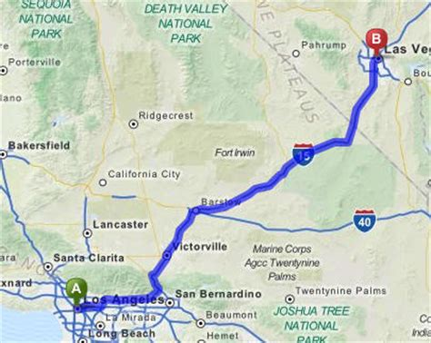 map of los angeles and las vegas traveling from la to vegas how to get to las vegas from