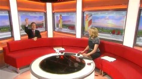 bbc breakfast sofa presenter loses new pound coin down back of bbc breakfast sofa