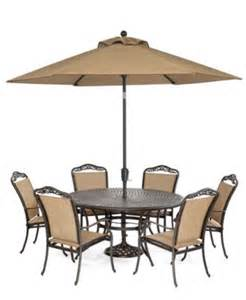Beachmont Outdoor Patio Furniture Paradise Outdoor 7 Set 60 Quot Dining Table And 6 Dining Chairs Furniture Macy S