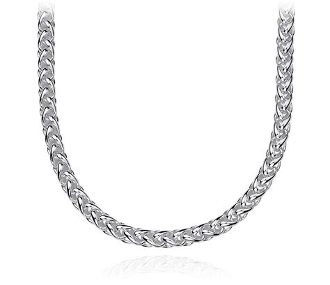 wheat chain necklace in sterling silver blue nile