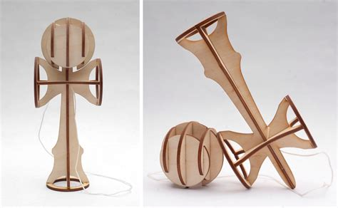 How To Make A Paper Kendama - pro yo yoer creates demos flatpack lasercut yo yo