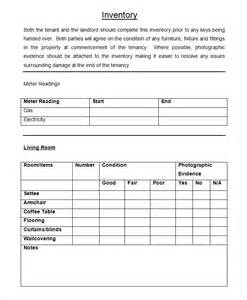 landlords contract template landlord inventory template 6 free word documents