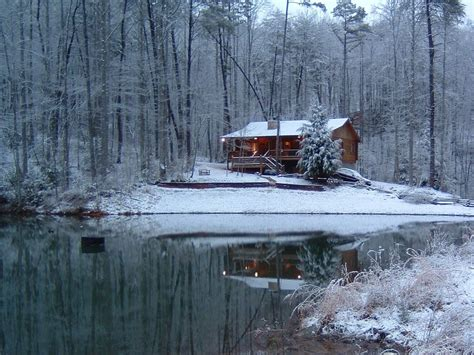 Log Cabin In The Snow by Mountain Log Cabin On Fed Lake Homeaway Blue Ridge