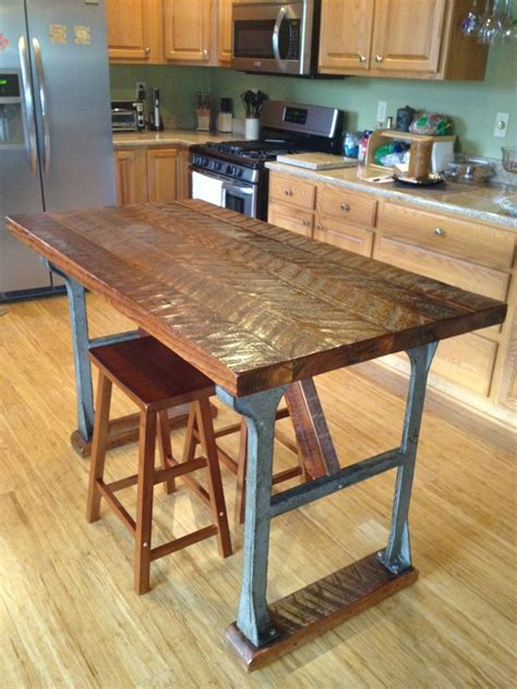 iron kitchen island kitchen island made from antique cast iron base with antique reclaimed top shelving and