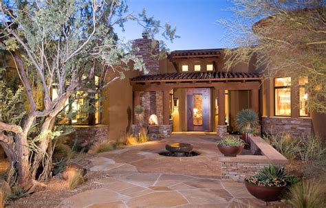 southwestern home ritz model homes southwestern landscape phoenix by