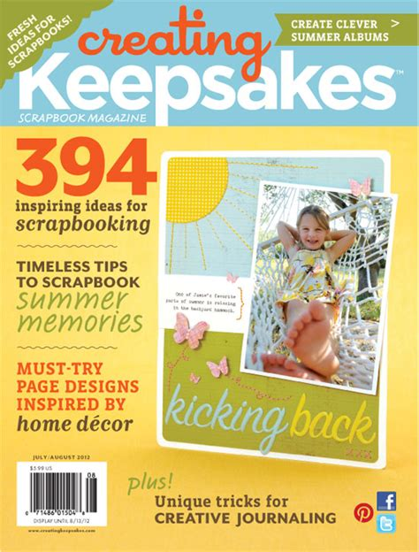 Creating Keepsakes Scrapbook Magazine March April 2012 scrapbooking creating keepsakes blitz giveaway maggie photography and