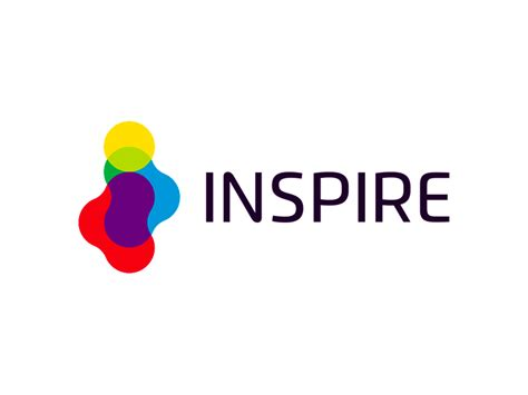 inspire logo design colorful  letter mark  negative