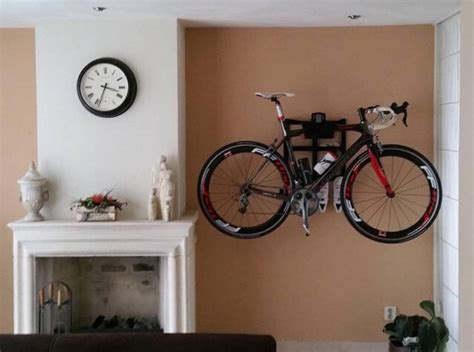 living room bike rack wall mount and bike as a part of your interior artivelo