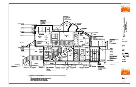 architectural specification sections architect drawings modern house