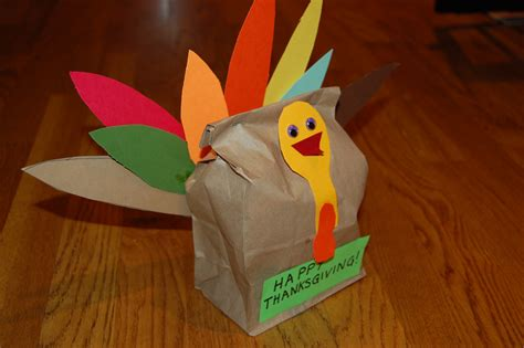 How To Make A Paper Bag Turkey - paper bag turkey craft template ye craft ideas