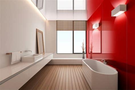 rote badezimmer ideen rote wand 50 ideen mit wandfarbe rot archzine net