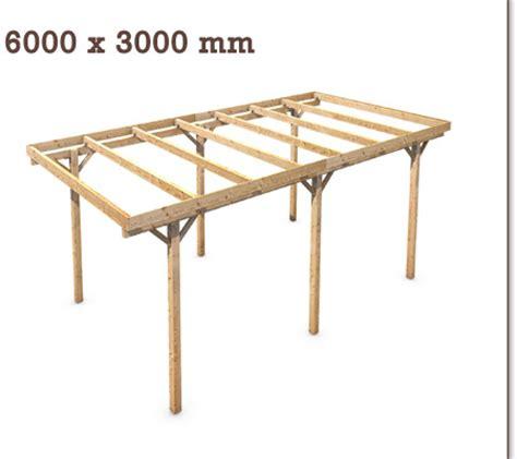carport 5x3m carport flachdach massivholz einzelcarport 5x3m 6x3m