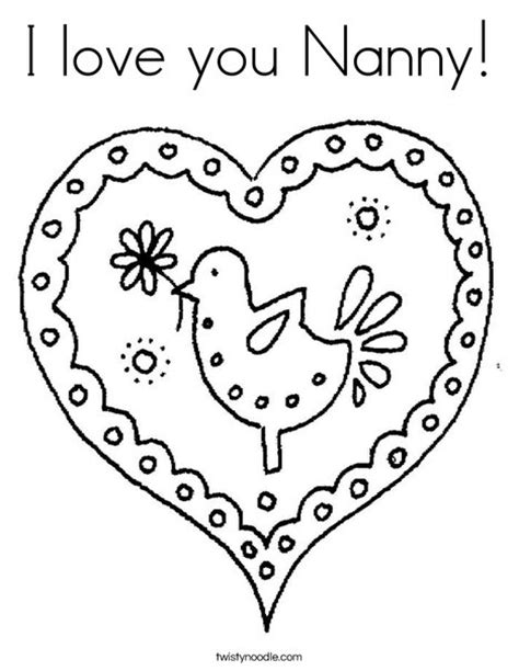 happy birthday nanny coloring pages i love you nanny coloring page twisty noodle