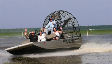 fan boat rides kissimmee fl glide over water with boggy creek airboat rides in