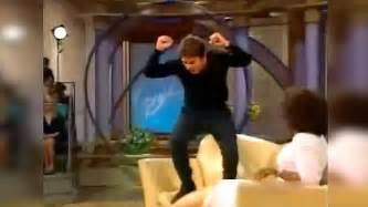 tom cruise jumping on couch tom cruise s epic couch jump on oprah show archive