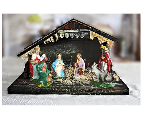 vintage 19 piece nativity set from italy 19 best vintage nativity sets images on nativity sets nativity