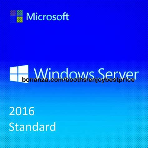 Microsoft Windows Server microsoft windows server 2016 standard 64 bit lifetime key link operating systems