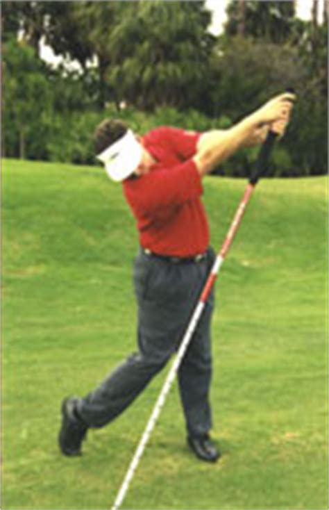 straight right leg golf swing golf stretching pole