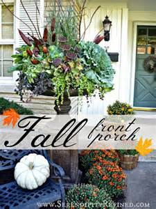 Thanksgiving Door Decoration Ideas Fall Front Porch And Fabulous Urn Planter Fox Hollow Cottage