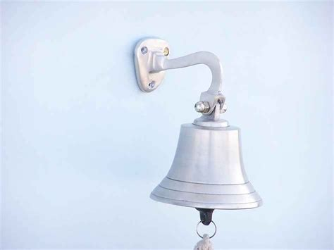 buy brushed nickel hanging ship s bell 6 inch wholesale
