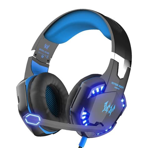 Headset Gaming Kotion Each G2000 3 5mm With Led kotion each g2000 gaming headset gamer 3 5mm earphone wired gaming headphone with microphone led