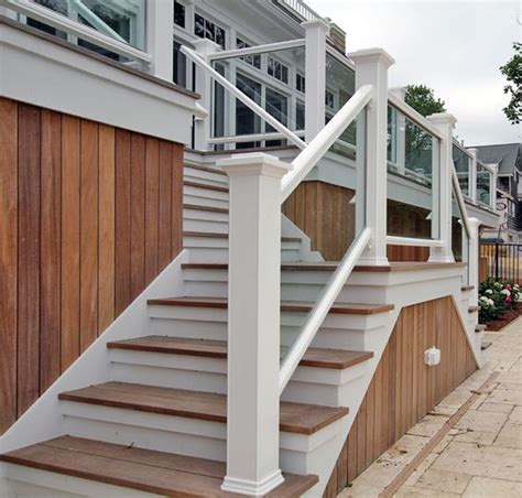 outside wood handrails for stairs search