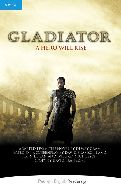 Gladiator Film Book | penguin readers level 4 gladiator book level 4 by
