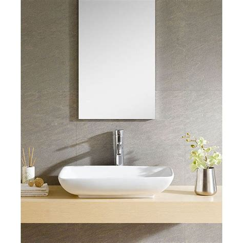 fine fixtures white vitreous china oval vessel sink fine fixtures white vitreous china rectangle vessel sink