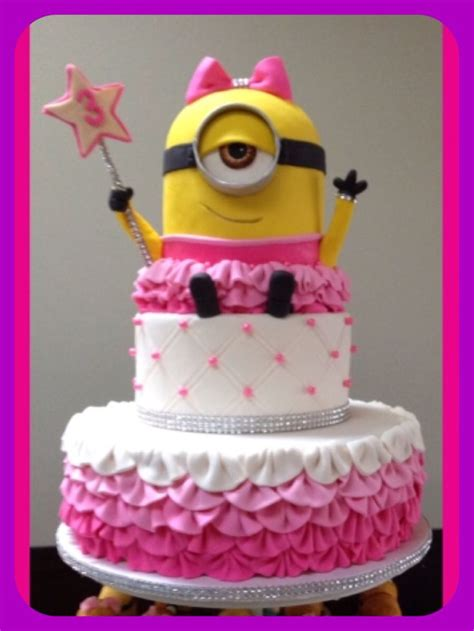 girl themes for cakes minion birthday cake girl minion party pink minion cute