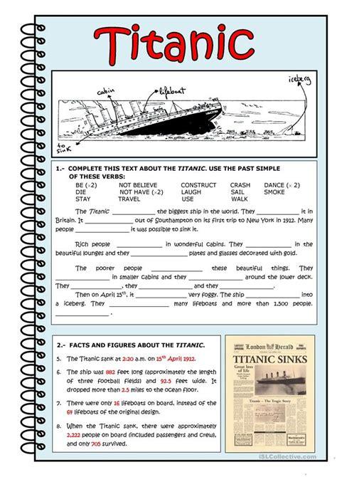 titanic film in urdu language titanic worksheet free esl printable worksheets made by
