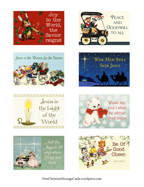 printable christmas messages free printable christmas message cards variety sheet