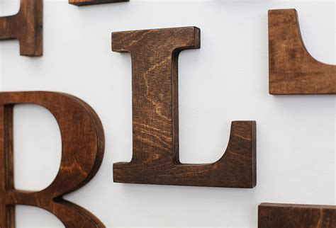 decorative wood letters for walls l alphabet wooden letters 6 7 inch vintage decorative letter