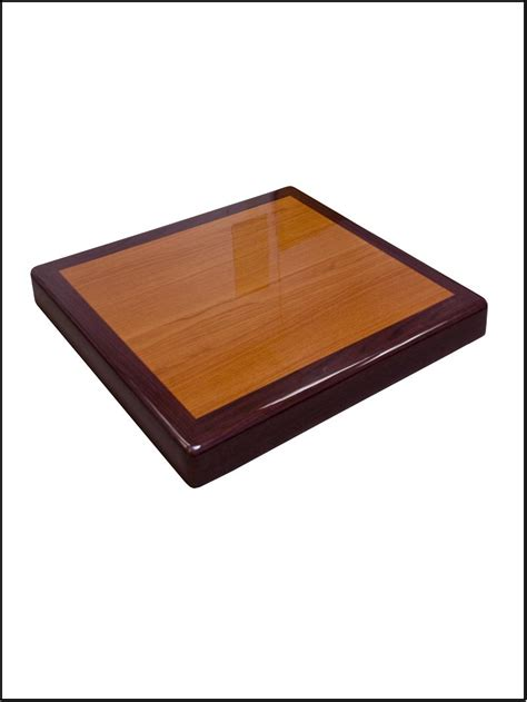 resin table top mahgony cherry square