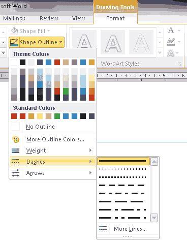 cara membuat garis hiasan di word ilmu komputer cara membuat garis putus putus lurus dan