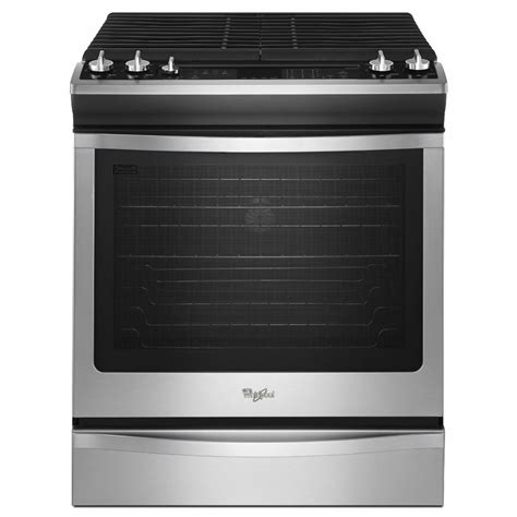 Oven Gas Golden Standard shop whirlpool gold 5 burner 5 8 cu ft slide in convection gas range stainless steel common
