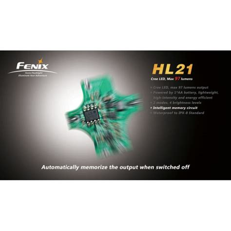 lade frontali fenix fenix hl21 97 lumens