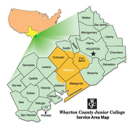 service county texas map college information