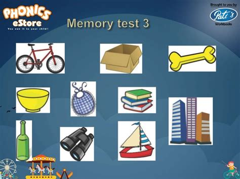memory test phonics estore for memory tests 1 to 10