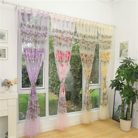 colorful curtains honana fashion transparent tulle curtains window screen