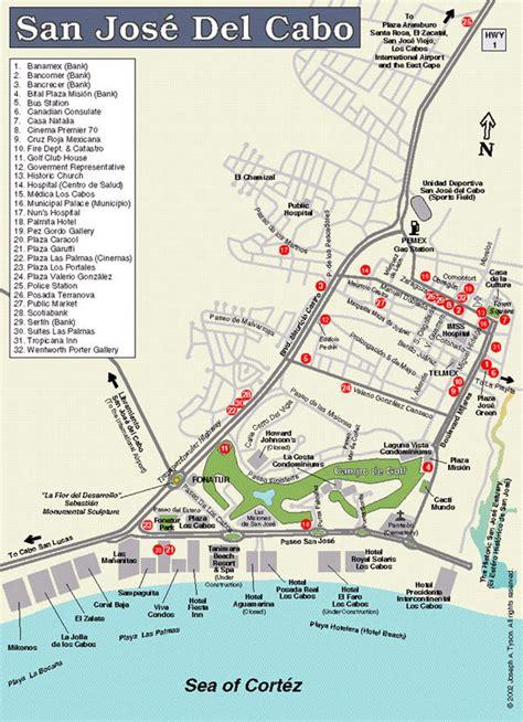 san jose golf map maps of los cabos san jose cabo cabo san lucas los