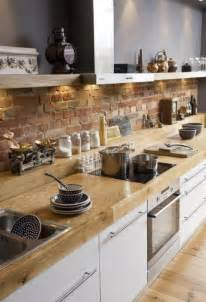 faux brick backsplash in kitchen brick backsplashes rustic and of charm